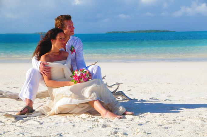 Heiraten auf Onefoot Island, Cook Inseln