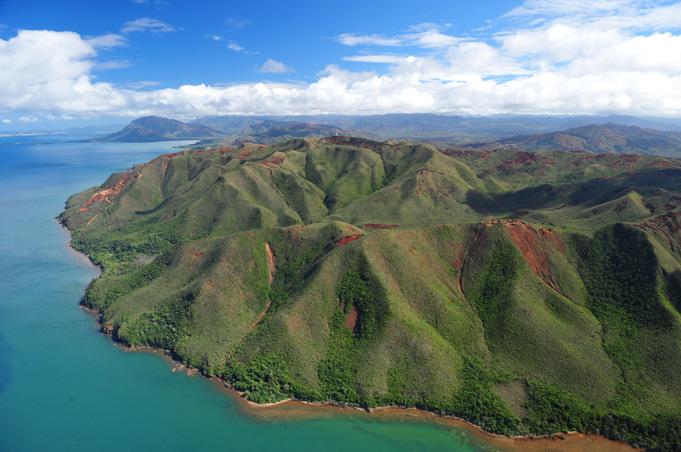 Neukaledonien, der Große Süden mit blau, grün und rot