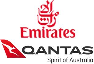 Airlines Emirates and Qantas