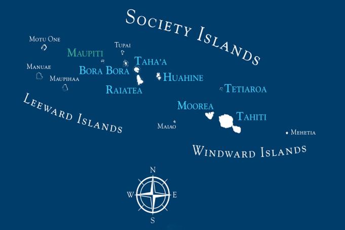 Willkommen in Französisch-Polynesien: mit duftenden Blumenkränzen