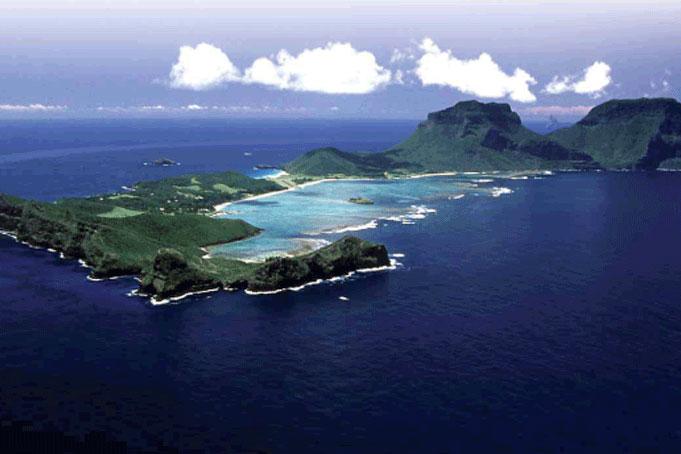 urlaub australien - Lord Howe Island, Weltnaturerbe in der Tasmanischen See