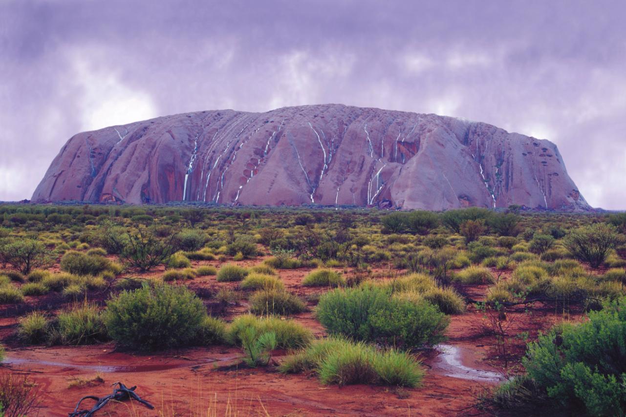 Uluru nach dem Regen