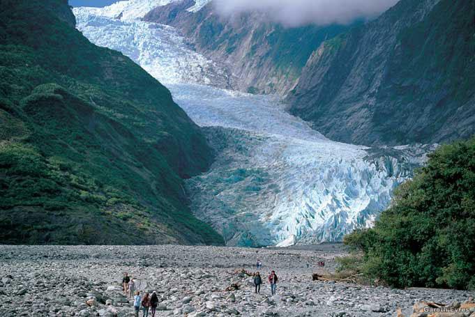 Franz Josef Glacier, schnellster bewegender Gletscher