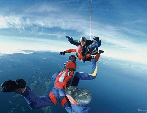 Skydiving in Neuseeland mit Sicht von über 100 km