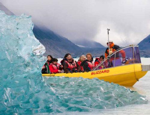 Lake Tasman Glacier am Fuße des Mount Cook, Urlaub Australien