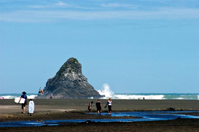 Karekare Beach, Waitakere Ranges Regional Park, wilder Westen von Auckland